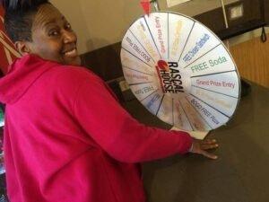 anniversary wheel spinning