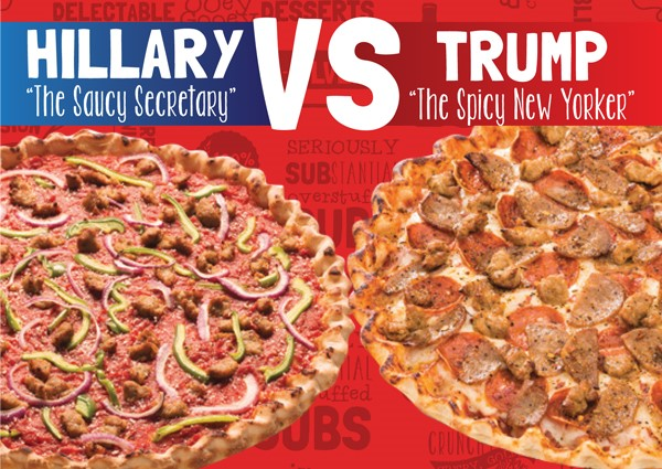 Pizza Poll - Hillary vs Trump