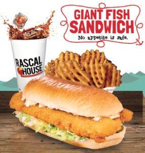 Rascal House Giant Fish Sandwich