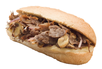 Hot Philly Steak Grinder