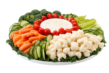 Vegetable Tray and Dip