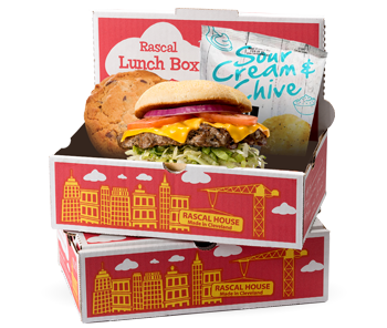Burger or Bird Box Lunch